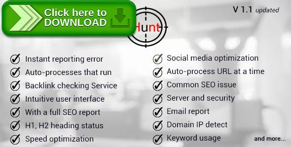 [ThemeForest]Free nulled download seo hunt from http://zippyfile.download/f.php?id=53239 Tags: ecommerce, check seo, check site seo, php seo open source, seo, seo analyzer, seo checker, seo php, seo preview, seo scan script, seo scanner script, seo status, tag analysis, view seo report, website analyser