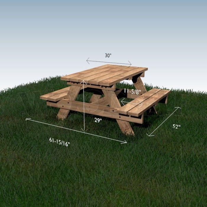 Table à pique-nique - plan du meuble                                                                                                                                                                                 Plus