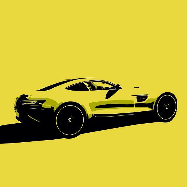 Yellow. A great colour for a Mercedes AMG GT. #yellow #mercedesbenz #mercedes #cars #car #art #illustration #tintop #AMG #loveofcars