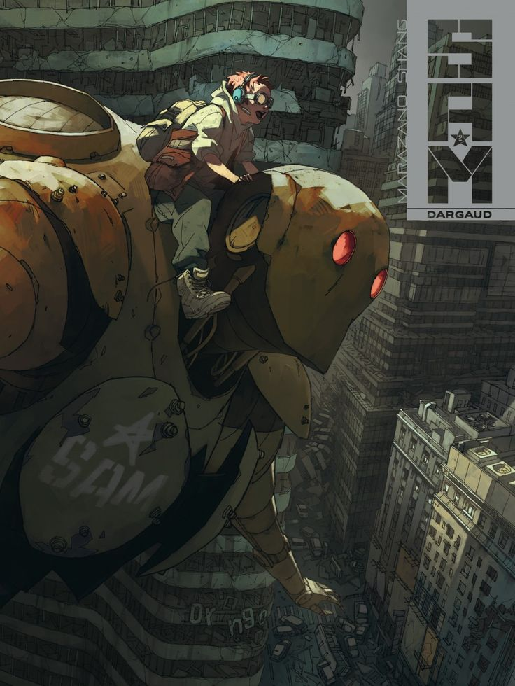 SAM Comics> dessinateur : Shang Xiao  > scénariste :Richard Marazano Des enfants essayent de survivre dans un monde ravagé, dans les ruines d'une mégalopole où des robots monstrueux éliminent toute forme de vie humaine. S.A.M. est l'un de ces monstres d'acier, un androïde, et une curieuse relation va se nouer entre lui et Yann un des survivants.
