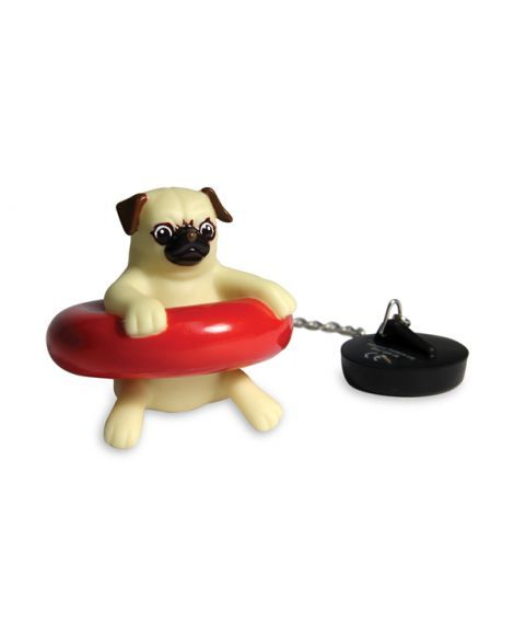Bath Pug is a helpful little pup who will help you keep the bath plug stopped up and keep you company at the same time! A hilarious novelty gift idea for dog lovers.