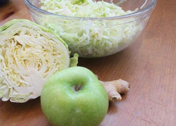 ... Green Apple Slaw with homemade yogurt dressing (perfect for winter