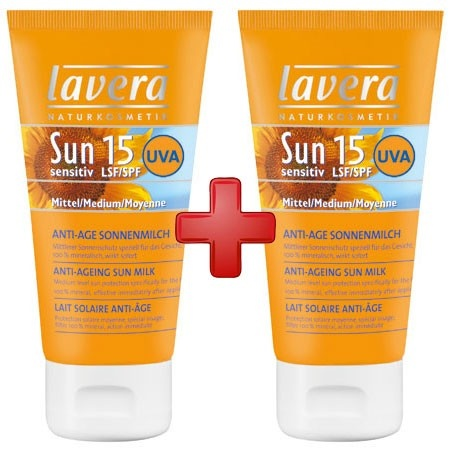 2-In-1 Facial Sunscreen and Moisturizer SPF 15 is especially developed for delicate facial skin.   Note: All 2 packs are Final Sale. $15.00