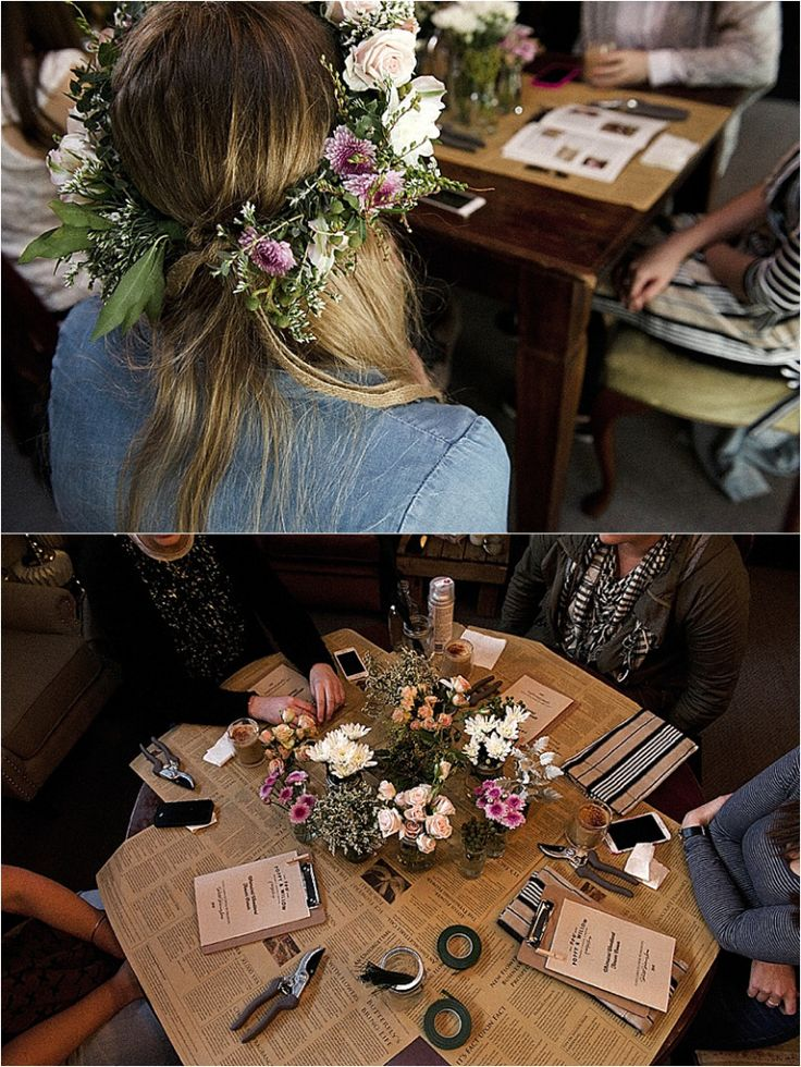 Flower Crown Workshop www.poppy-and-willow.com.au Nicole Duncan Photography