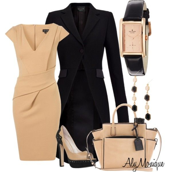 Classic timeless clean lines: camel wrap dress, classic black coat and leather watch (I still <3 watches)