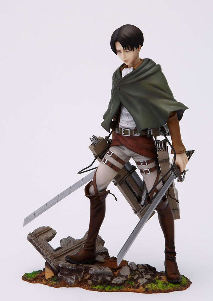 Attack on Titan Brave Act Estatua 1/8 Levi Rivaille 20 cm