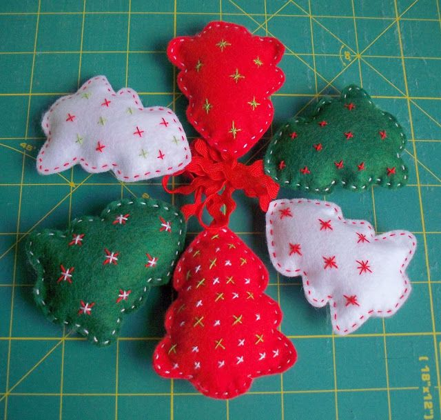 Aurea´s Kitchen: Costura: Paso a paso de adornos de fieltro para Navidad. Desafío Love Craft