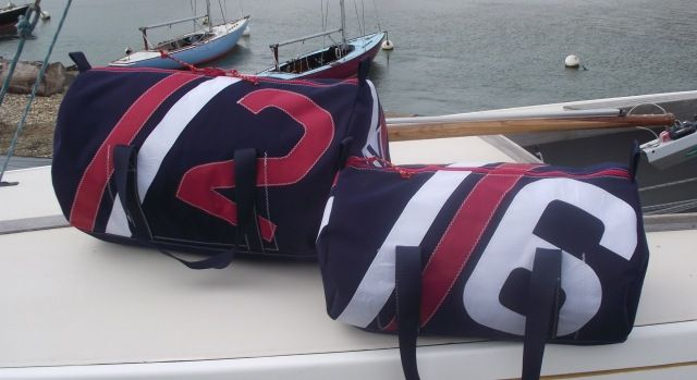 Kit bags made from sail cloths.  Stylish and eco friendly.  Just up our street!  Made on the Isle of Wight.  £112 for small bag