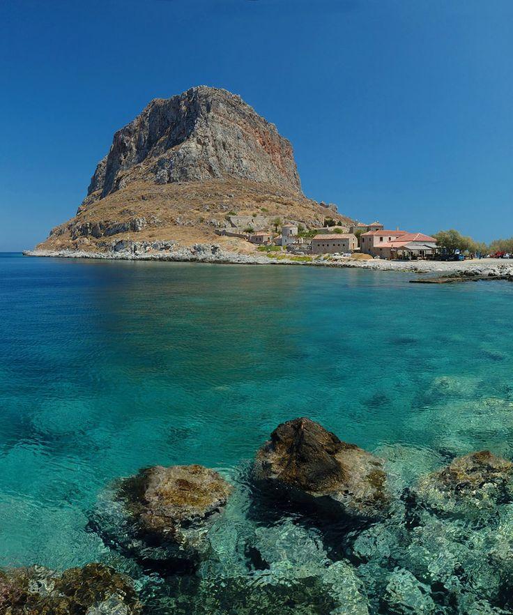 The Rock of Monemvasia in Greece www.mediteranique.com/hotels-greece/monemvasia/