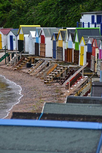 Beach huts, Corbyn Head