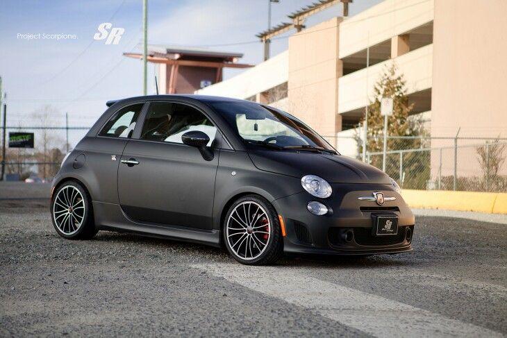 Fiat 500 mat zwart