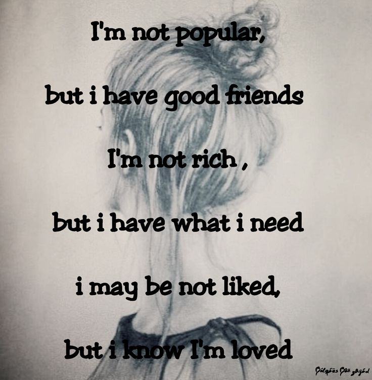 So true!! Because of this bully I know who my real friends are!!