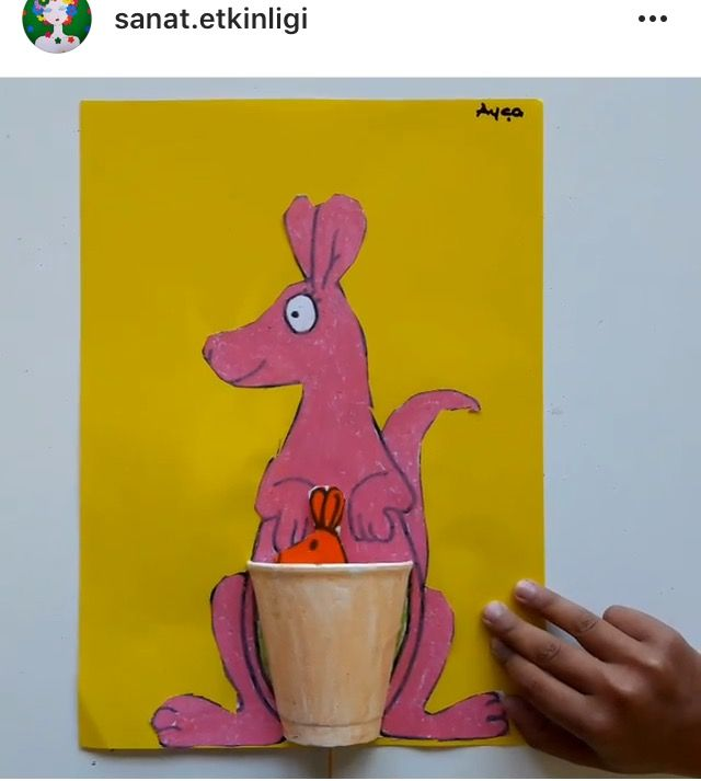 Okul öncesi etkinlik kanguru sanat etkinlikleri