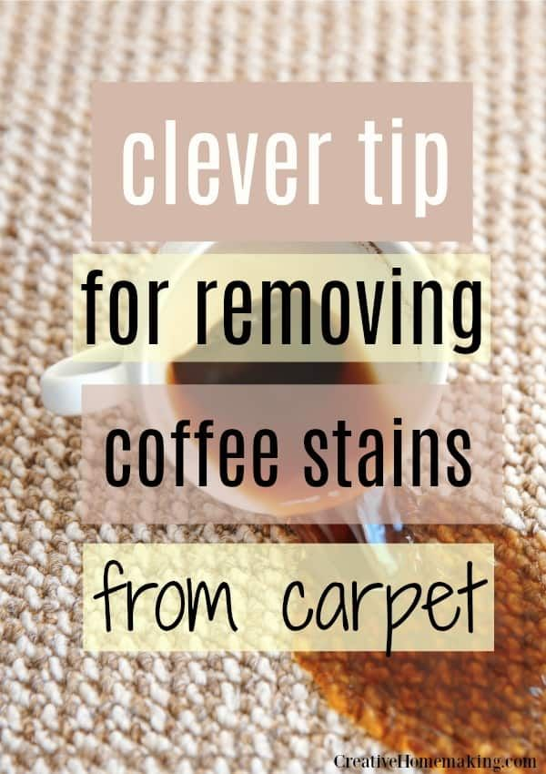 Removing Coffee Stain From Carpet Coffee Stain Removal Coffee Staining Cleaning Hacks