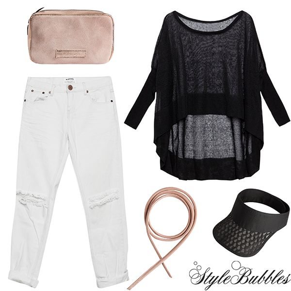 Long Weekend Essentials! Ripped Denim, spring knits and playful accessories! #stylebubbles #springessentials #fashion #accessories #rippeddenim #oneteaspoon #onlineshopping