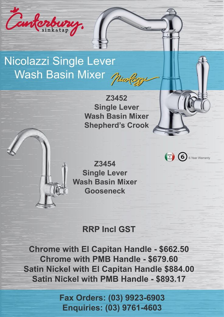 Nicolazzi Single Lever Wash Basin Mixer