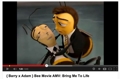 Today's Gender of the Day is: { Barry x Adam } Bee Movie AMV: Bring Me To Life