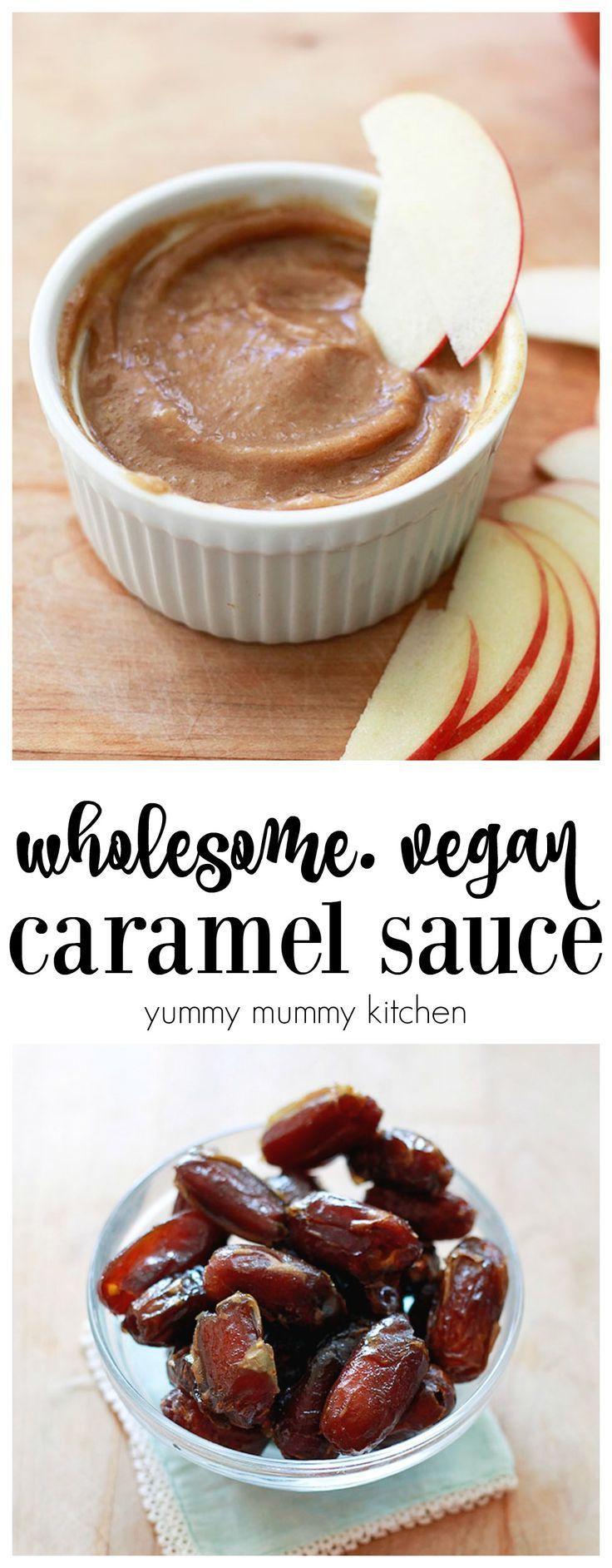 Vegan date caramel sauce recipe. Delicious, natural, healthy caramel dip made with dates.