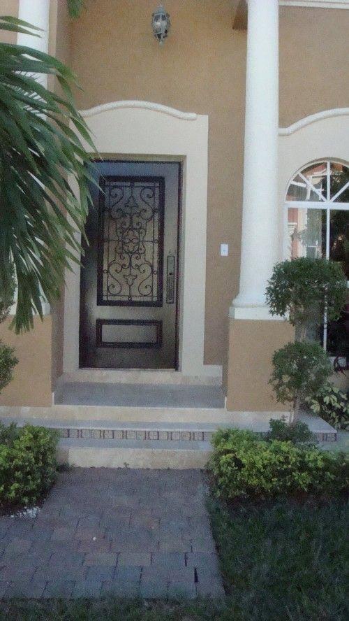 Iron  Glass Front Door
