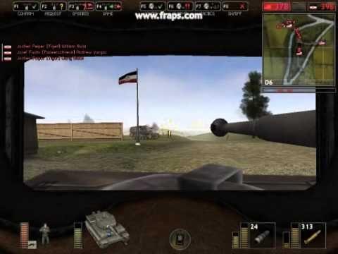Battlefield 1942 - Tiger tank fighting american troops on Normandy