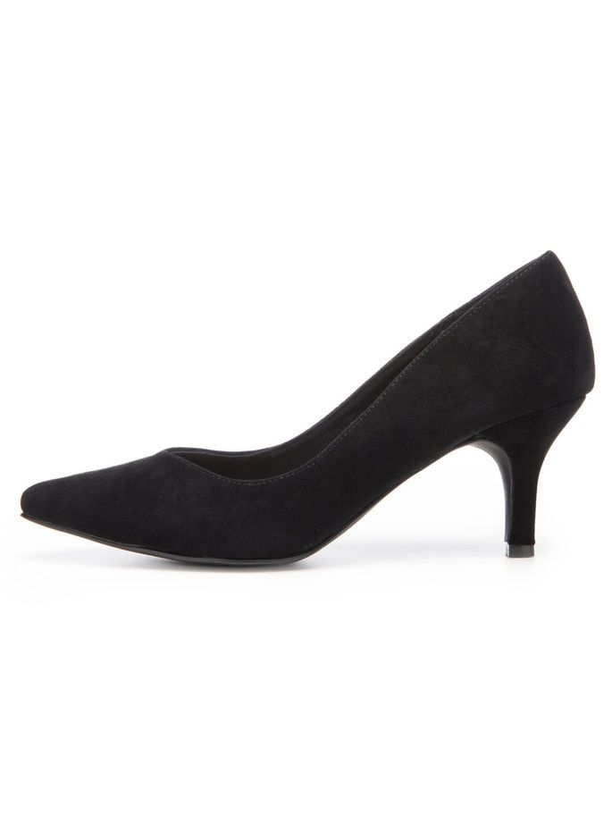 V-FRONT PUMPS, Black, large