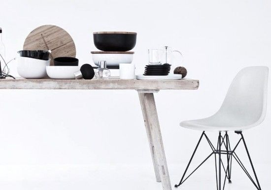 table: Klein Photography, Kitchens Colors, Wood, Style, Interiors, Chairs Eames, Norms Architects, Black White, Architects Copenhagen