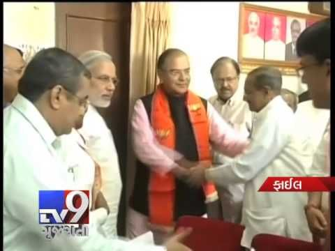 BJP top brass meets Narendra Modi in Gandhinagar    Top Bharatiya Janata Party (BJP) leaders have been engaged in consultations over the post-poll situation in the wake of exit poll projections that the party-led National Democratic Alliance may form the government. For more videos go to  http://www.youtube.com/gujarattv9  Like us on Facebook at https://www.facebook.com/tv9gujarati Follow us on Twitter at https://twitter.com/Tv9Gujarat