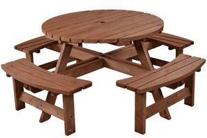 Lancaster 8 seater round picnic table