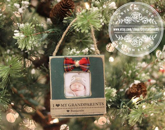 Personalized Christmas Ornament for Grandparents by CrystalCoveDS