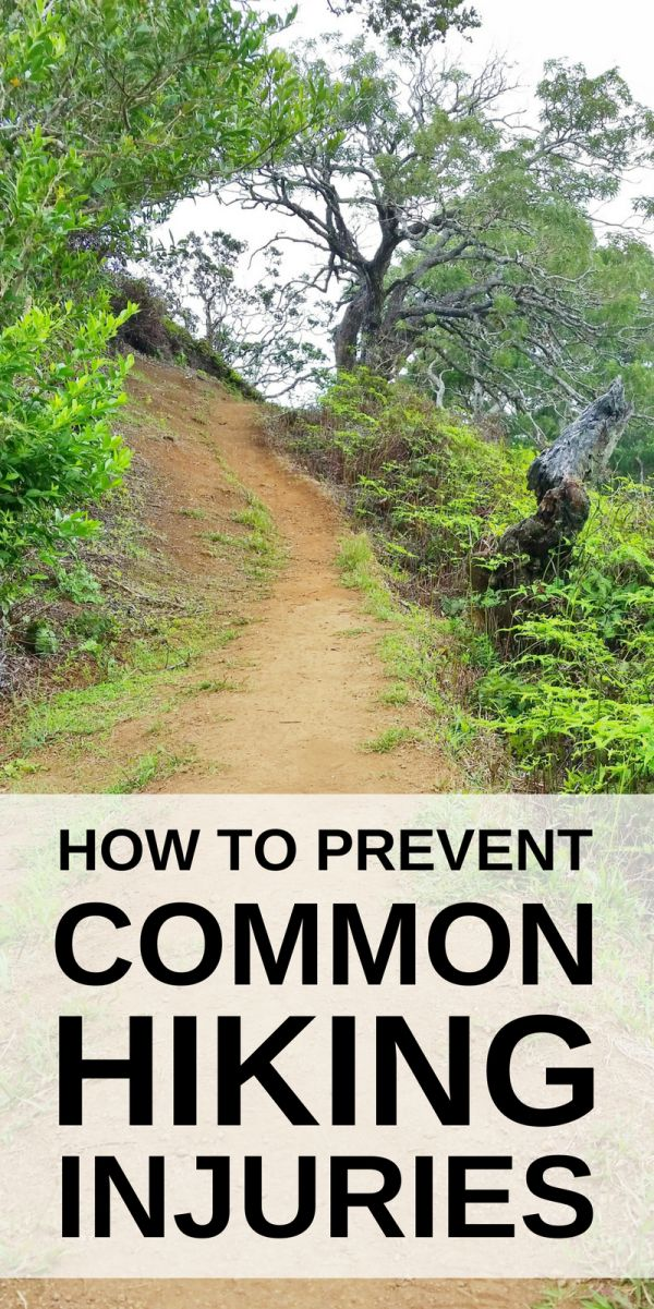 Hiking tips for beginners and ideas to prevent common hiking injuries including knee pain with causes from walking hills. Training and preparation can help to prevent a hiking injury or walking injury, including with workout exercises for strength and con
