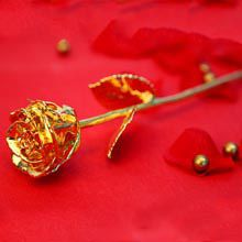 A Good Gift For Fiance Male Engraved Golden Rose