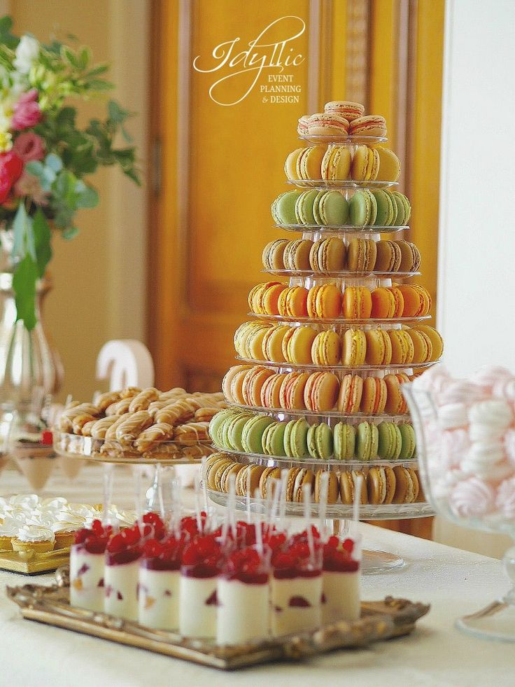 candy bar Idyllic Events | botez la Palatul Snagov | macarons din faina de migdale