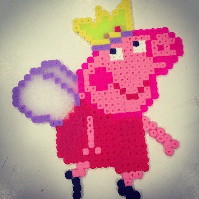 17 best images about peppa pig on pinterest perler bead patterns perler beads and hama mini - Fusee peppa pig ...