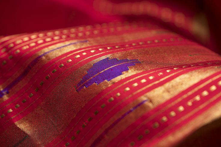 Kaleidoscoping colours combine with traditional motifs in Ghanshyam Sarode's glorious Paithani saris #Paithani #sari #silk #india #handloom #parisera