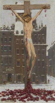 "Edward Okuń (1872-1945), ""Chrystus śnieżny"", 1929"