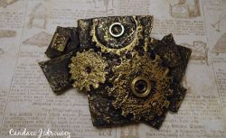Steampunk diy hair barrette
