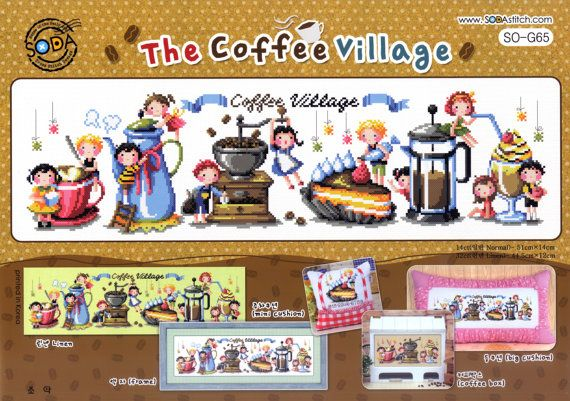 The Coffee Village  counted cross stitch by GeniesCrossstitch