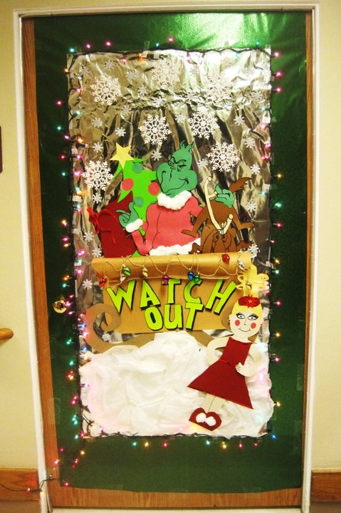 Grinch Door Decorating Holidays Pinterest Doors