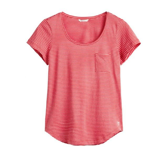 Sandwich Clothing Striped Pocket Top Red