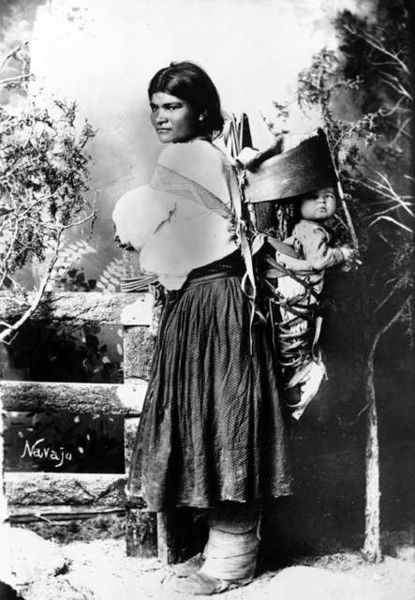 Navajo woman & child