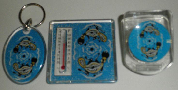 Aboriginal design Magnetic Set & Keyring keyring - Thermometer - Memo Clip $8.00 SPECIAL - 3 FOR $20.00