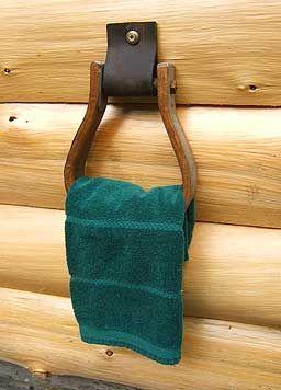 saddle stirrup towel ring