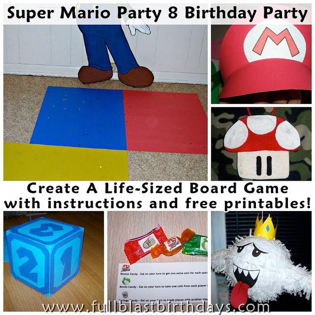 A Super Mario themed birthday party (with printables) that you can easily translate into a program for kids.