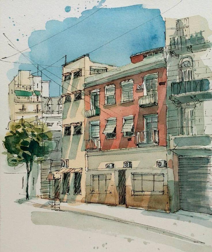 Domingo Perón street. Buenos Aires.