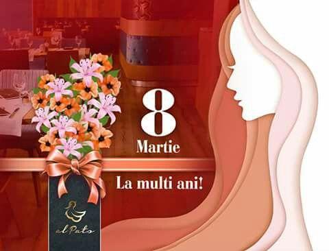 Doamnelor și domnișoarelor, la mulți ani! Ne place să vă sărbătorim ziua și să fim alături de dumneavoastră în astfel de momente. Astăzi la El Pato va asteptam cu mici surprize din partea casei! #ElPato, #GradinaIcoanei, #8martie