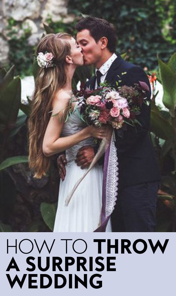 How To Throw A Surprise Wedding According To Anne Hathaway S Wedding Planner Surprise Wedding Suprise Wedding Wedding Planner
