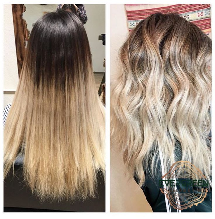 Black hair blonde highlights