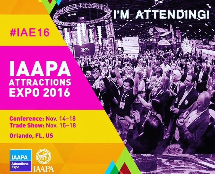 We are soo ready for next week! Are you?! Come visit!!! Booth 2024. See you soon! #orlando #iae16 #tuesday #expo #amusment #rides #coasters