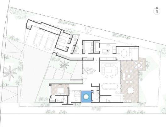 Residência Claroscuro,Planta