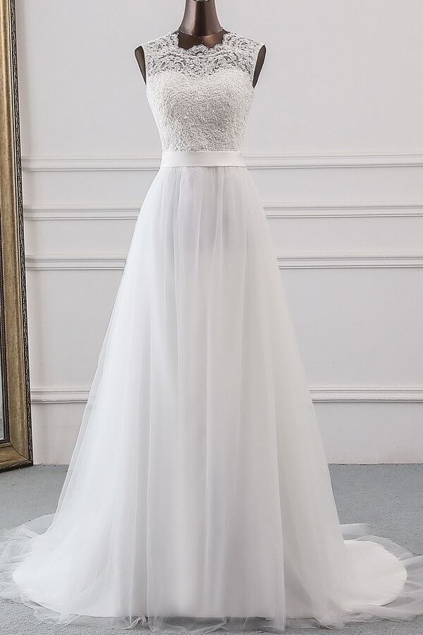 Free Shipping On Chicloth Graceful Lace Up Tulle A Line Wedding Dress Lace Wedding Dress Vintage Wedding Dresses Australia Ball Gowns Wedding